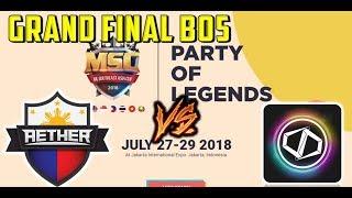 MSC GRAND FINAL BEST OF 5 OPPOSING AETHER MAIN VS DD PRO GAMING - 1...