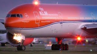 """KLM """"Orange Pride"""" Boeing 777-300ER + Kenya Airways 787 Takeoff [4K]"""