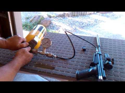 How to fill a PCP air gun from a scba tank