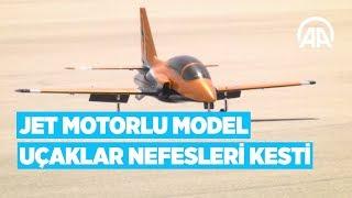 Jet motorlu model uçaklar nefesleri kesti model uçak