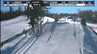 Silje Norendal Run 1 Women's Snowboard Slopestyle Final  X Games Aspen 2014