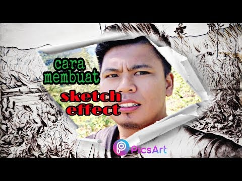 Cara membuat Sketch effect, // Picsart tutorial. thumbnail