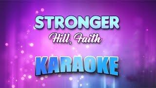 Hill, Faith - Stronger (Karaoke version with Lyrics)