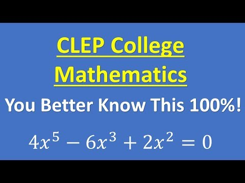 CLEP College Mathematics 2019 – Important Review Topic thumbnail