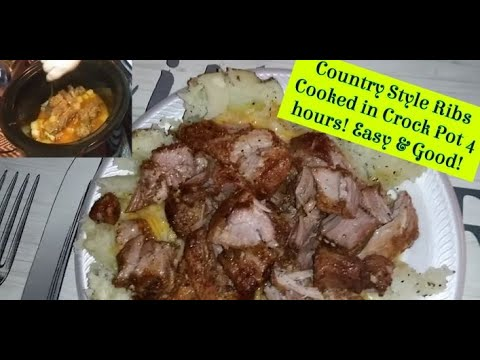 Country Style Ribs Cooked In The Crock Pot