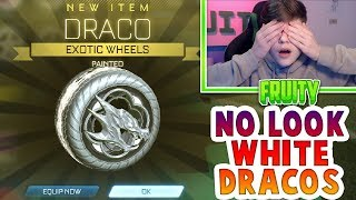 I GOT WHITE DRACOS WITHOUT LOOKING | *INSANE* TRADE UPS AND CRATES | Rocket League