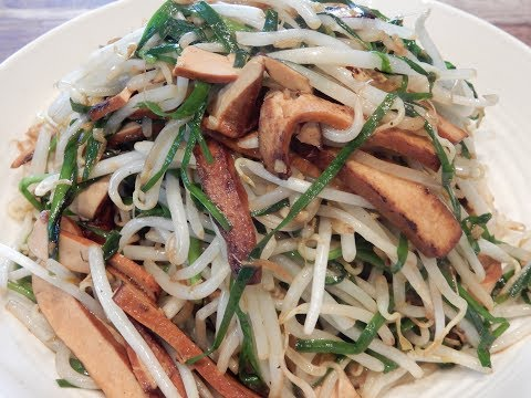S1Ep27-Stir Fry Five Spice Tofu With Bean Sprouts And Chinese Chives 韭菜芽菜炒豆干