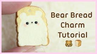 Bento Bear Bread Charm ●  Polymer Clay Tutorial