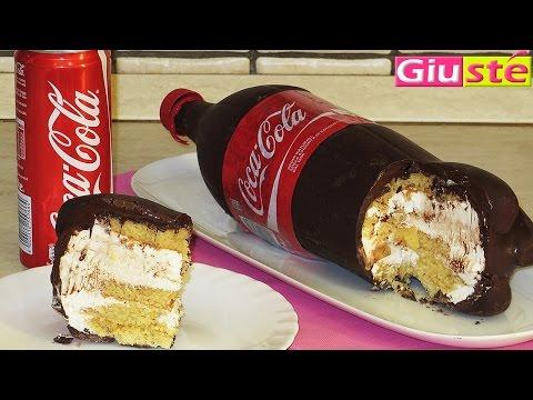 Gâteau façon bouteille de Coca Cola