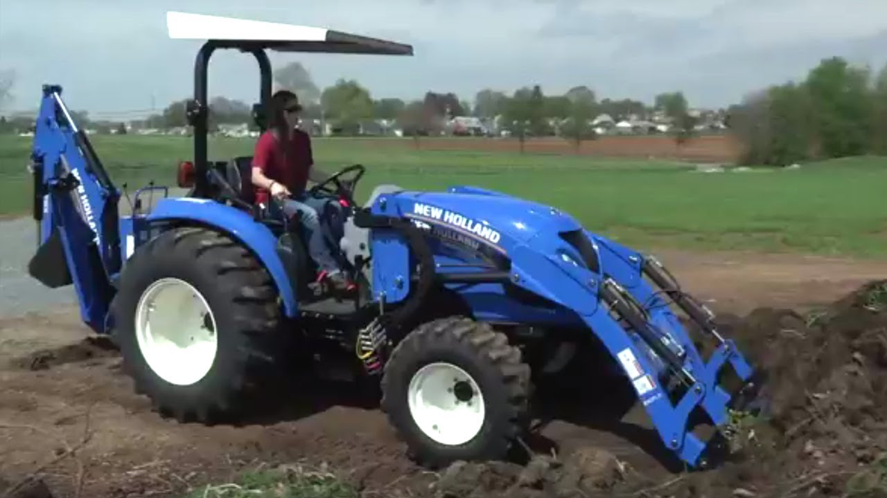 New Compact Tractor : Compact tractor with loader new holland boomer youtube