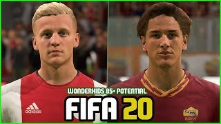 FIFA 20 | ALL WONDERKIDS  WITH 85 + POTENTIAL (REAL FACES)