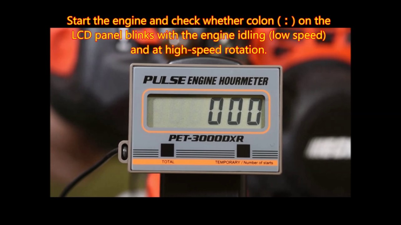 OPPAMA engine hourmeter PET-3000DXR How to use(brush cutter)