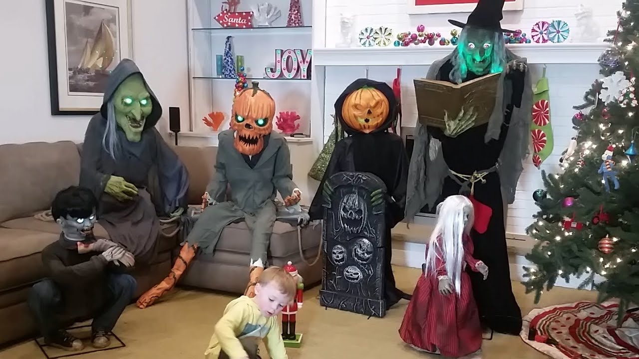 spirit halloween animatronics our collection grows again youtube