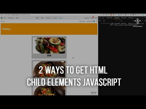 2 Ways To Get HTML DOM Child Elements With JavaScript
