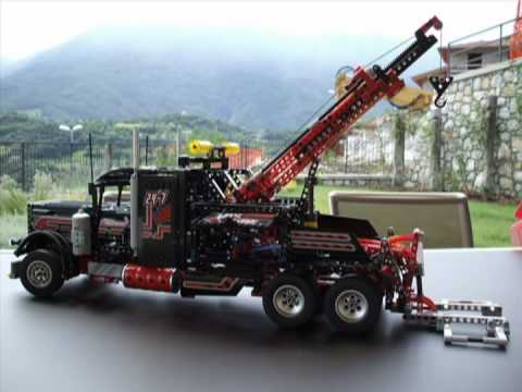 Lego Technic 8285 Tow Truck - Heavy Load Flat Bed Truck with motor ...