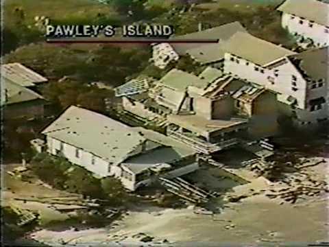 Pawleys Island SC  Sept 1989 Aerial Footage of Hugo