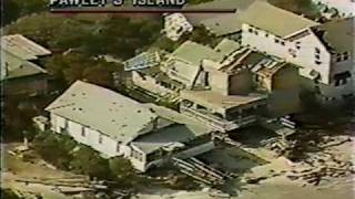 Pawley's Island, SC - Sept 1989 Aerial Footage of Hugo Aftermath