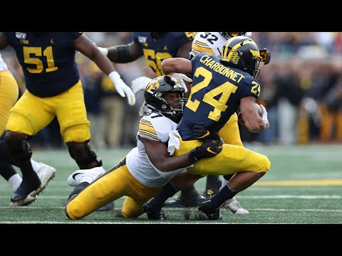 Chauncey Golston (Iowa DE #57) Vs Michigan 2019