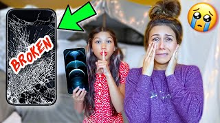 Destroying My Mom's iPhone, Then Giving Her A iPhone 12 Pro MAX!!! **She Cried** | Familia Diamond