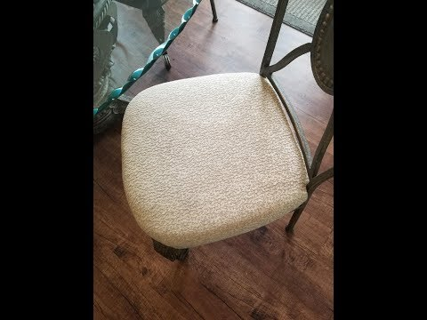 HOW TO CLEAN Fabric Dining Room CHAIRS w/ Baking Soda & Dawn   *LIVE
