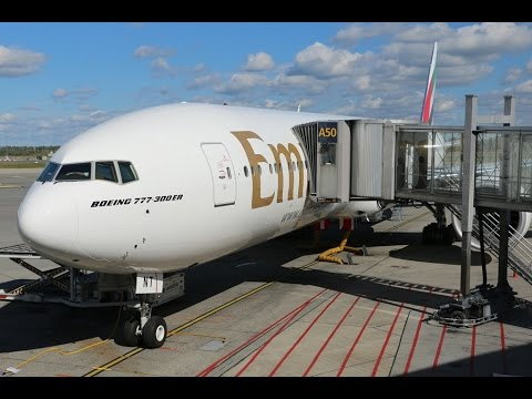 Emirates Boeing 777-300 ER Business Class, Inaugural flight Oslo-Dubai