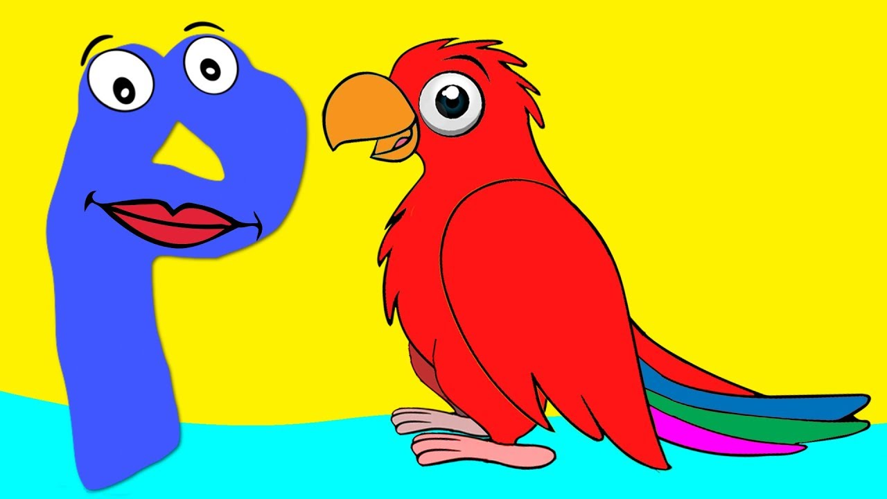 Learn the Alphabet Animals - Letter P - PARROT