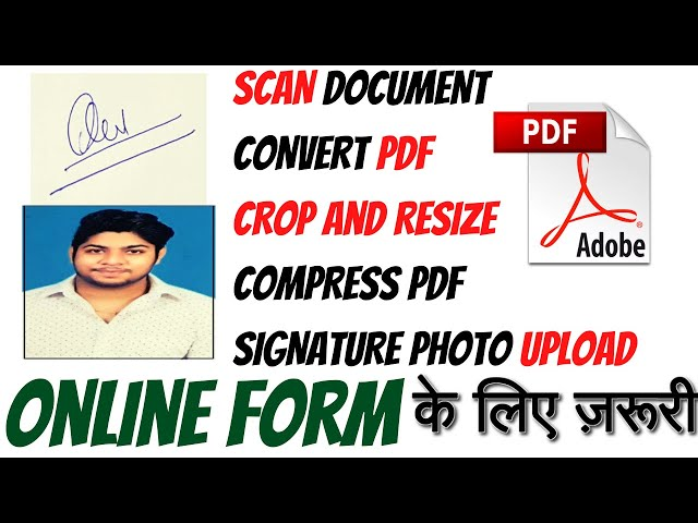 How to resize photograph signature convert pdf to jpeg Fill any application form online