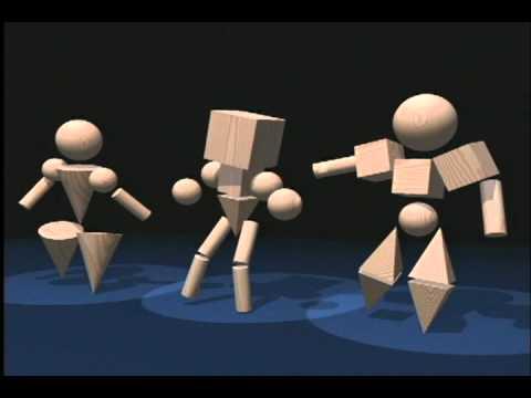 3D Geometric Shapes Dance Ballet