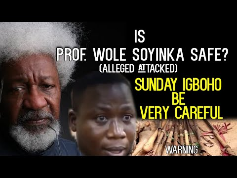 IS PROF. WOLE SOYINKA SAFE?Sunday igboho BE VERY VERY  CAREFUL NOW- Lawyer Tunde