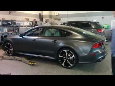 Matte Daytona Gray Audi RS 7 2014 - Quick Walk Around ...