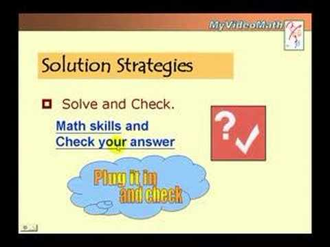 Problem solving strategies in math