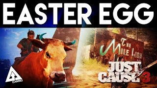 "Just Cause 3 Easter Egg ""RIDE A BULL & MILE HIGH CLUB"""