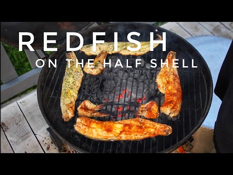 REDFISH ON THE HALF SHELL (CATCH AND COOK!!!) / OLD BAY V.S UNCLE CHRIS' GOURMET FISH SEASONING