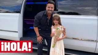 La velada de gala de Luis Fonsi y su hija Mikaela con limusina incluida