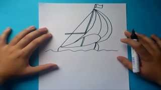 Como dibujar un barco velero paso a paso | How to draw sailboat