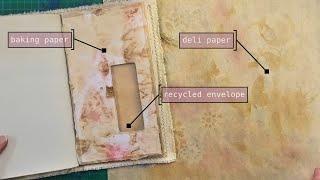 envelope pockets for journals (recycled junk mail envelopes)