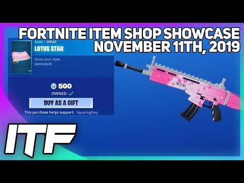 Fortnite Item Shop *NEW* ANIMATED LOTUS STAR WRAP! [November 11th, 2019] (Fortnite Battle Royale)