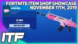 Fortnite Item Shop *NEW* ANIMATED LOTUS STAR WRAP! [November 11th, 2019] (Fortnite Battle Royale)
