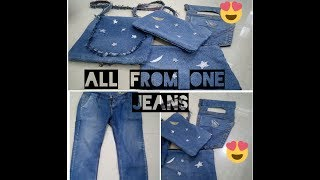 DIY: All From One Jeans ||SlingBag||Pouch||MobileHolder||