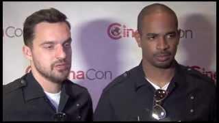 """Let's Be Cops"" Jake Johnson and Damon Wayans Jr Interview"