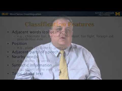 Word Sense Disambiguation - Natural Language Processing   Michigan