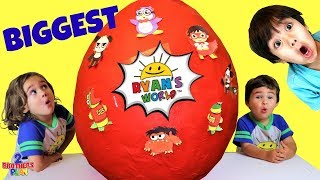 BIGGEST Ryan's World Toys Surprise Egg with Ryan's World Toys Unboxing | 2 Brothers Play