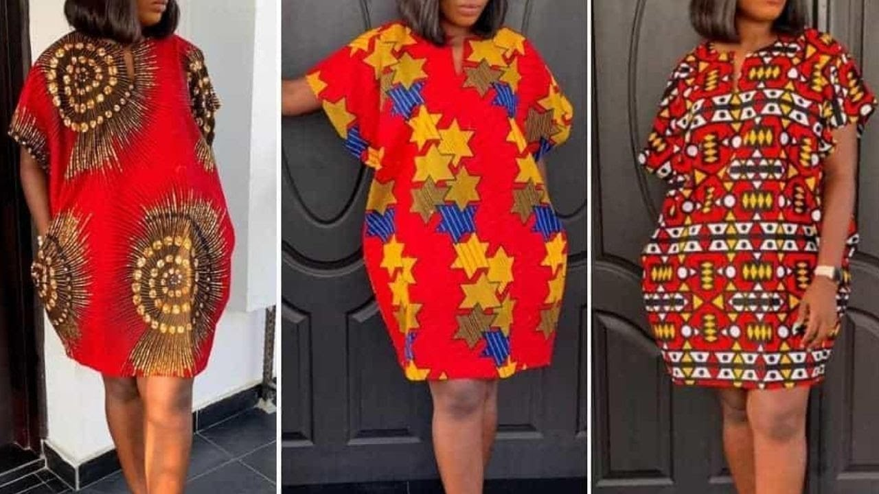 Download How to Make a  Dress | Cut and Sew a Kimono Danshiki Dress | Short Ankara Dress