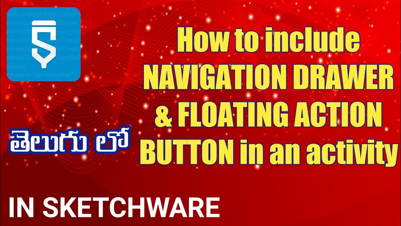 How to include NAVIGATION DRAWER & FLOATING ACTION BUTTON in an activity - YouTube