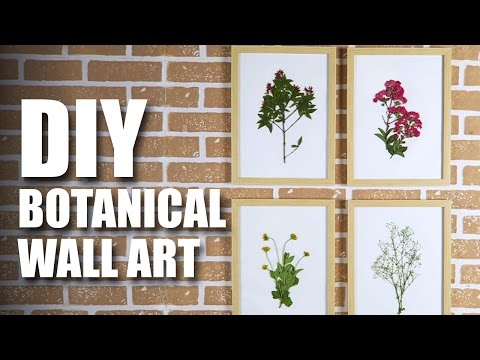 How to make a DIY Botanical Wall Art