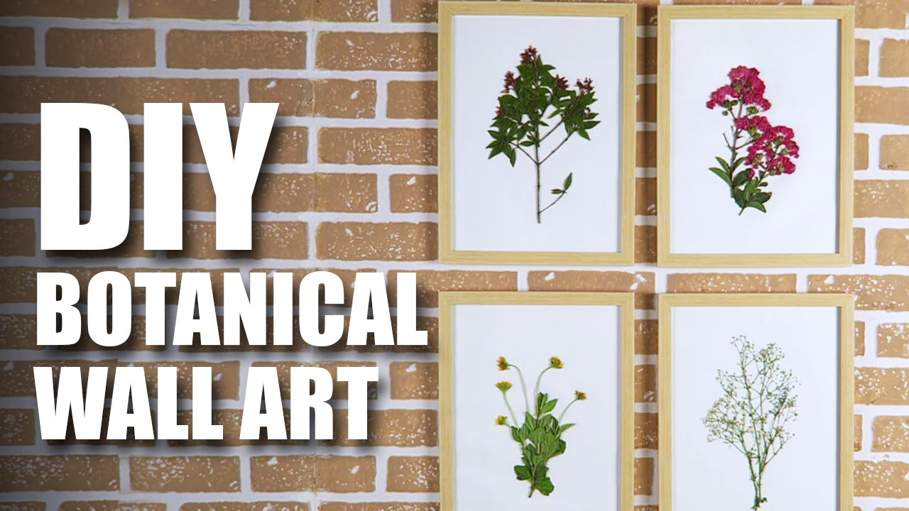 DIY Botanical Wall Art | Room Decor Ideas | Mad Stuff With Rob ...