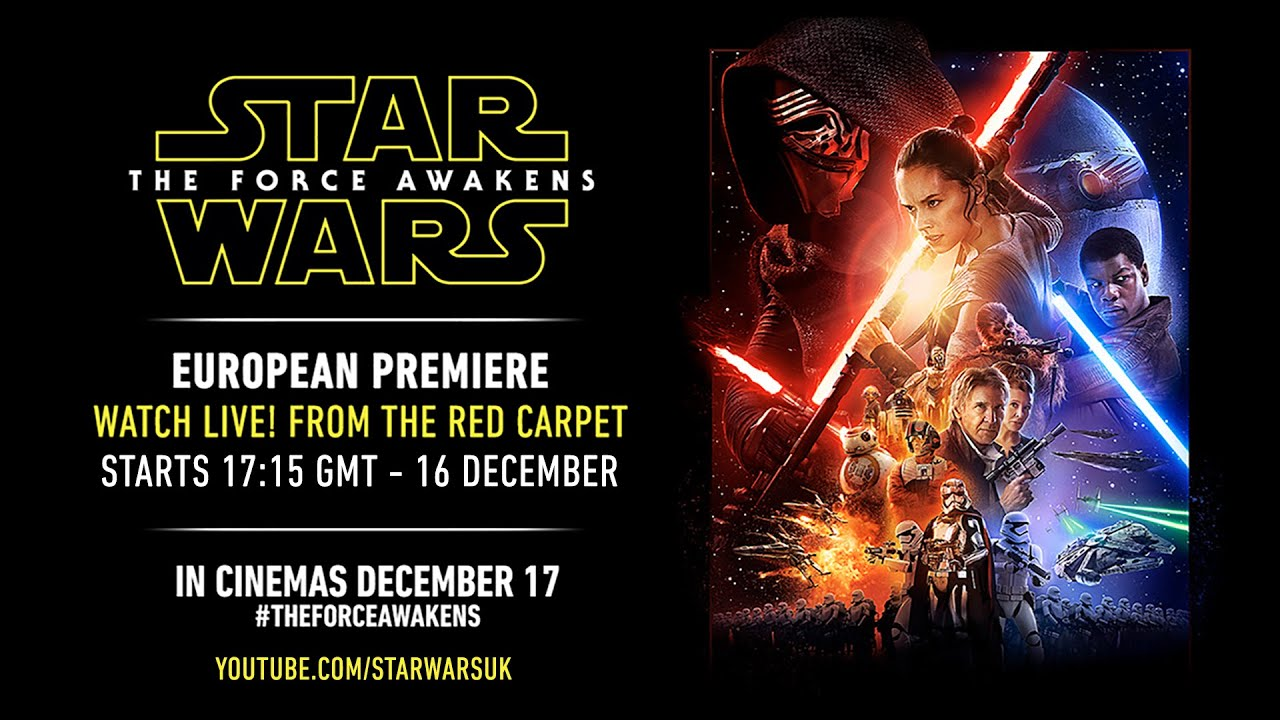 画像: Star Wars: The Force Awakens European Premiere youtu.be