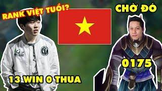 IG ROOKIE lần đầu qua server LMHT Việt Nam đã trở thành Độc Cô Cầu Bại (13 trận win liên tiếp)