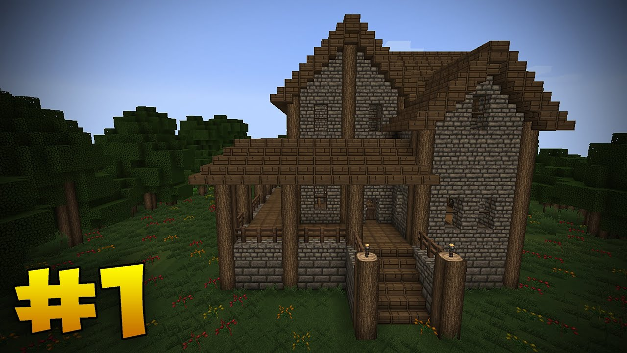Minecraft Tutorial How To Build A Medieval House Part