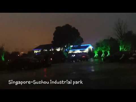 Singapore-Suzhou industrial park @Night